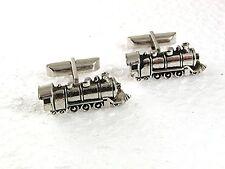 Cufflinks By Swank 71317 Vintage Silvertone Train Steam Engine