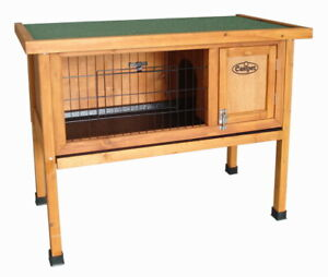 Pet Dwarf Rabbit Bunny Guinea Pig Wooden Hutch Small Animal House 3ft Shelter