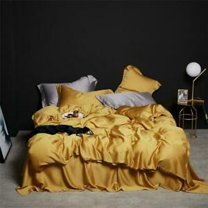 Wine Red Solid Color Elegent Bedding Luxury Tencel Silk Duvet Cover Bed Sheet