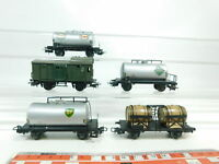 BJ379-1# 5x Märklin H0/AC Güterwagen etc DB: BP+Esso+Aral+Bordeaux etc, 2. Wahl