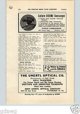 1952 PAPER AD Saturn Boone Gunscope Telescope Scope Tinsley Laboratories Unertl