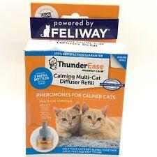 ThunderEase Calming Multi-Cat Diffuser Refill 2 Bottles Exp 02/2023