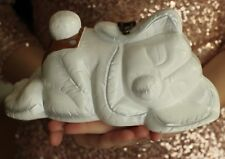 Timmy Woods Handmade WHITE sleeping baby bunny Crossbody RABBIT Clutch Purse