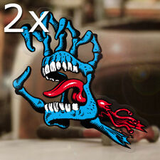 2x pieza Screaming skeleton mano Sticker Adhesivo skate surf 175mm