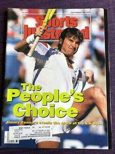 Sports Illustrated Jimmy Connors US Open Sept 16, 1991 + Lawrence Taylor, Branca