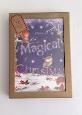 New 18 Have A Magical Christmas Greeting Cards Sparkling With An Owl Chipmunks