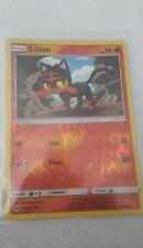 LITTEN Pokemon Sun & Moon Trading Card 24/149 Game/Fire/Reverse/Holo/Foil/NEW
