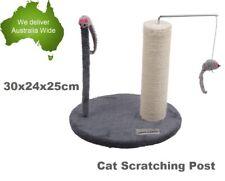 Small Cat Scratcher Kitten Tree Gym Scratching Post Furniture Base-Brown/Grey