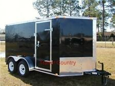 NEW 6x12 6 x 12 V-Nose Enclosed Cargo Trailer w/Ramp