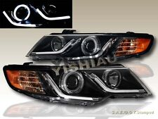 FIT 10-13 FORTE/FORTE COUPE CCFL HALO LED STRIP R8 BLACK PROJECTOR HEADLIGHTS G2