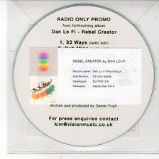 (DV134) Dan Lo Fi, Rebel Creator sampler - 2010 DJ CD