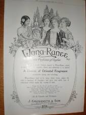 Wana-Ranee perfume of Ceylon J Grossmith advert 1918
