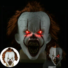 Latex Horror LED Maske Halloween Pennywise Cosplay Clown Fasching Kostüme 2020