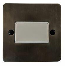G&H FSL69W Flat Plate Slate 1 Gang Triple Pole 10A Fan Isolator Switch
