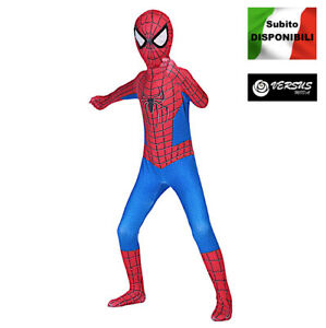 Spiderman Costume Carnevale Spider Man Amazing Bambino Uomo Cosplay SPM013 SD