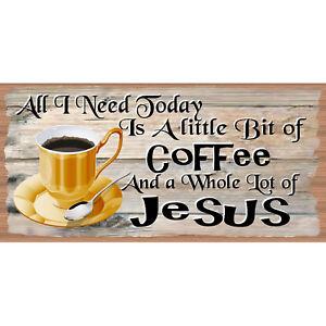Coffee  -Coffee With Jesus- GS 2851-Coffee-Gigglesticks Wood Sign