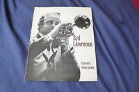 RARE Vintage jazz Band original 1974 UK concert tour program SYD LAWRENCE