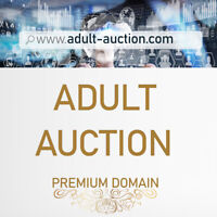 adult-auction.com Premium .COM Domain for any Adult Online Auction Auctions