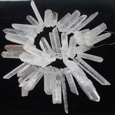 "8x9x40-12x16x76mm Natural Rock Crystal Quartz Freeform Gemstone Loose Beads 15"""
