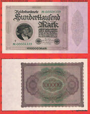 Serie M mit T 1 x 100 000 Mark UNC Ros.82 b Pick 83 Germany Inflation
