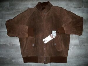 New With Tags Vintage Bomber Leather Insulated Motorcycle Biker Men's Jacket LG