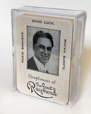 The Great Raymond Throwout Card Playing Cards / Custom Magic Playing Cards