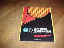 2009 NCAA Division I Tennis Championship Program 1st and 2nd Round