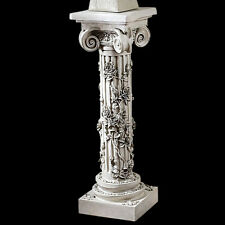 Rose Garland Decorative Sculptural Column Pedestal for home displays