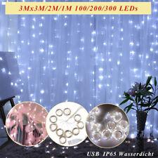 LED Lichtervorhang Lichterkette mit Federn Wanddekorationen USB Weihnachtslicht