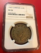 1947 Great Britain 1/2 CROWN NGC VF 25
