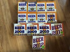 Lot of 13 Beer For The Year Page-A-Day Calendars ~ 2000-2012
