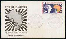 Mayfairstamps Rep de Haute Volta Fdc 1970 Map Anniversary Declaration Independen