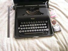 Vintage  Royal Portable Typewriter Glass Keys & Case