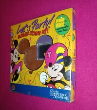 Disney Mickey Mouse Let'S Party Rubber Stamp Kit Set Lot of 7 Mickey Unlimited
