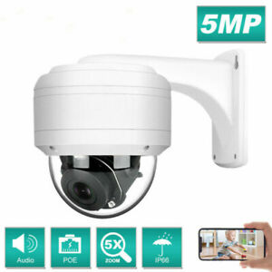Hikvision kompatible 5MP/8MP POE Überwachungskamera PTZ 5X Eingebautes Mikrofon