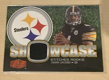 OMAR JACOBS Pittsburgh Steelers QB SHOWCASE MEMORABILIA EVENT WORN - FLEER 2006
