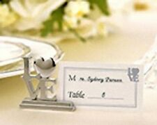 10 Silver LOVE Letter Wedding Anniversary Name Card Stand bomboniere Guest Gift