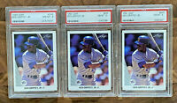 LOT OF 3 1990 LEAF KEN GRIFFEY JR #245 Graded PSA NM-MT 8 MAKE OFFER