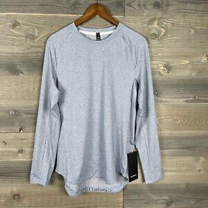 NWT Lululemon Men's Chambray/White Drysense Mesh Long Sleeve Shirt Small