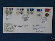 First Day Cover - Gallantry - Triple Stamped - 11/9/90 Brighton, East Sussex