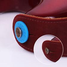 4pcs Strap Blocks Rubber Guitar Strap Lock System Set Red Black Grolsch