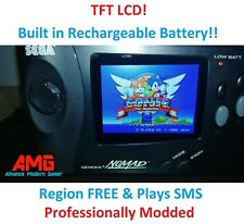 Sega Nomad MOD SERVICE - TFT LCD Screen + Region free and SMS MOD + Caps+Glass