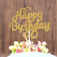 Glitter Paper Cake Topper Cupcake Dessert Topper Birthday Decoration Party V8J6
