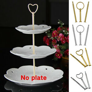 Multi-style 3 Tier Cake Plate Stand Handle Fitting Hardware Rod Plate Stand