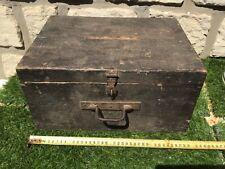 Ancienne CAISSE BOITE COFFRE valise EN BOIS rangement valisette mallette