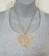 Fashion Necklace Dream out Loud by Selena Gomez Gold in color Heart Love NEW