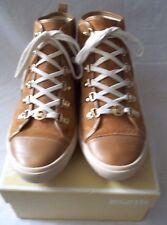 Michael Kors Ladies Brown Suede High Top Sneakers Size 8 1/2