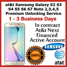 At&t Samsung Galaxy S2 S3 S4 S5 S6 S7 Note 2,3,4,5 Premium Unlock CODE Service