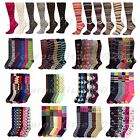 12 Pairs Lot Women Girl Lady Knee High Socks Multi Pattern School  Argyle  9-11