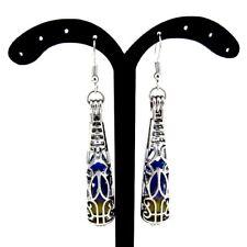 bf7eea45a Silver Long Bottle Shape Pearl Bead Cage Locket Earrings Dangle Women